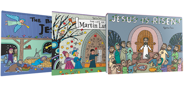 Pop-Up Book Bundle: Easter, Christmas, Martin Luther