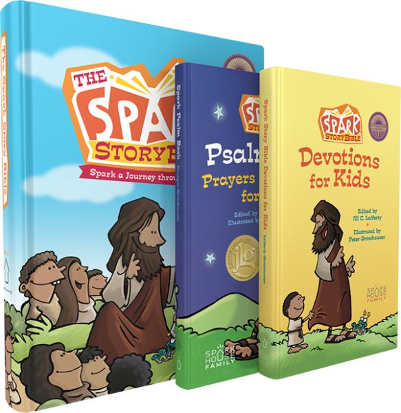 Spark Story Bible Complete Devotional Bundle: Bible, Devotional, and Psalm Book